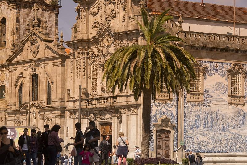 the church Igreja do carmo d dos carmelitas in the old town of  ribeira in the city centre of Porto in Porugal in Europe. photo
