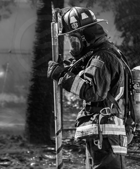 working firefighter photo