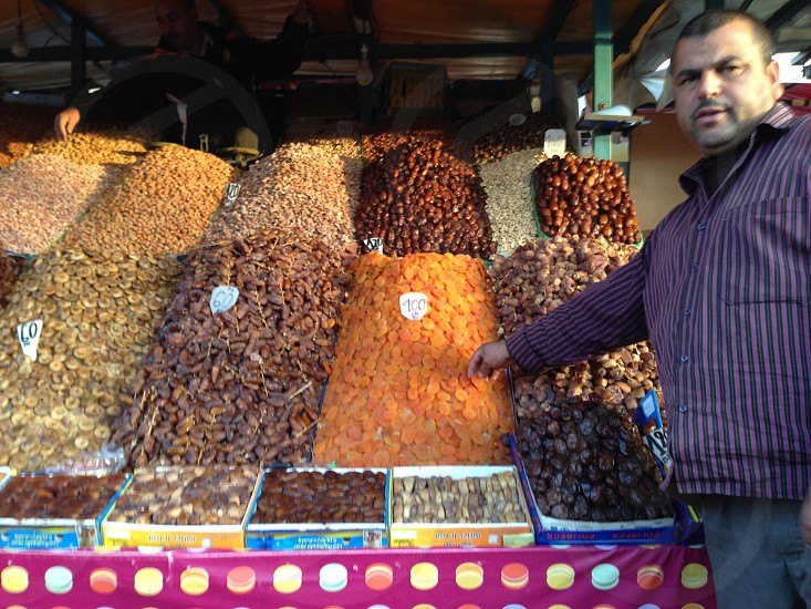 A Moroccan market stall photo