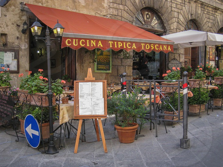 Cafe in Montepulciano Italy photo