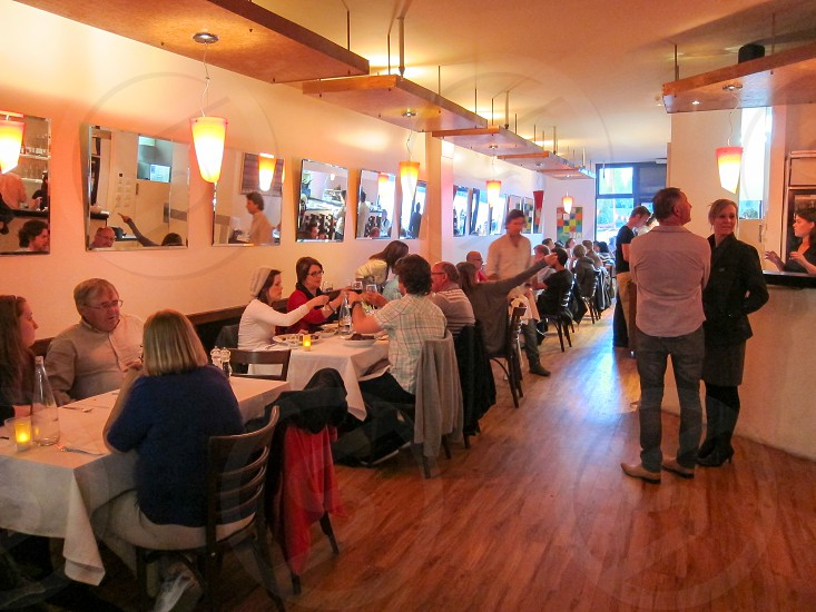 The interior of Finz in Queenstown New Zealand.  Exterior and food images also available. photo