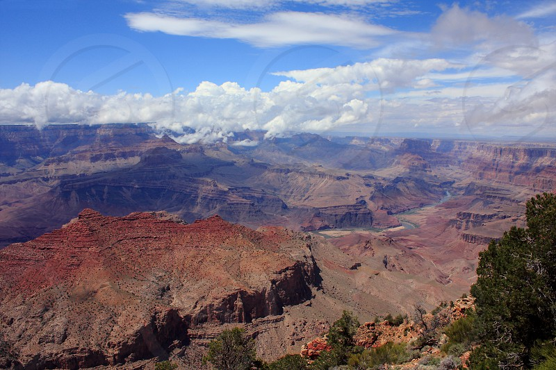 A grand view of Colorado river and Grand canyon national park photo