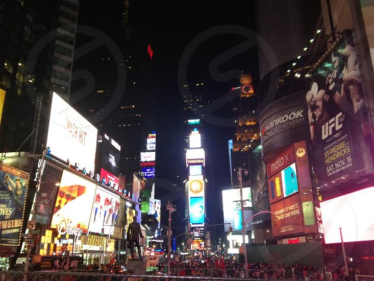 cityscape under night sky photo
