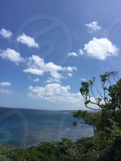 View from the Dunn's Falls area of Jamaica photo