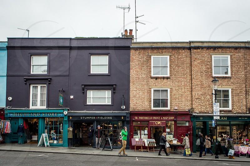 Portobello Road Market Notting Hill London photo