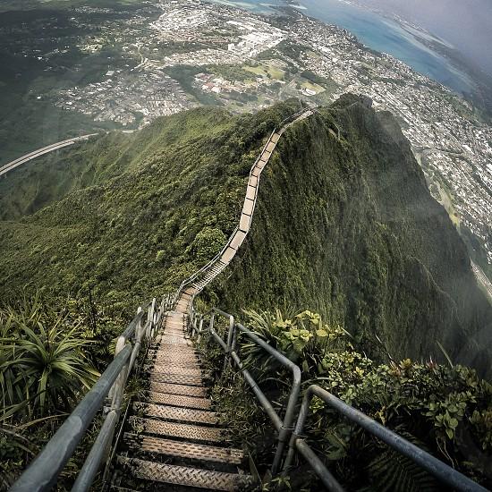 Stairway. Hawaiistairwayhiketrailpathwaysteps photo