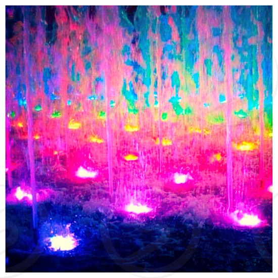Lighted fountain #patterns photo