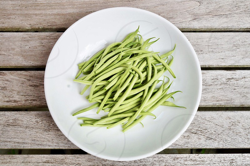 Green beans French green beans food vegetable fresh healthy vitamin spring photo