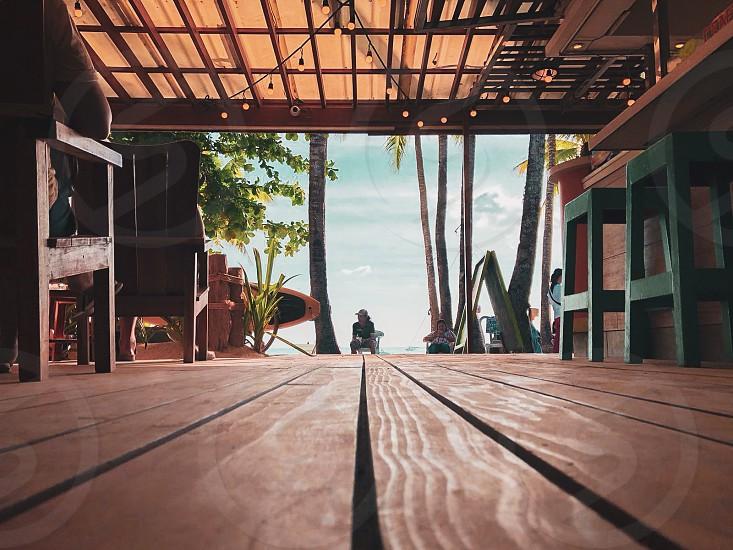 Travel; holiday; Philippines; Boracay; bar; sea; sand; beach front; nomad; colours photo