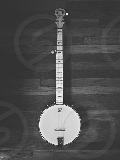 white banjo instrument photo