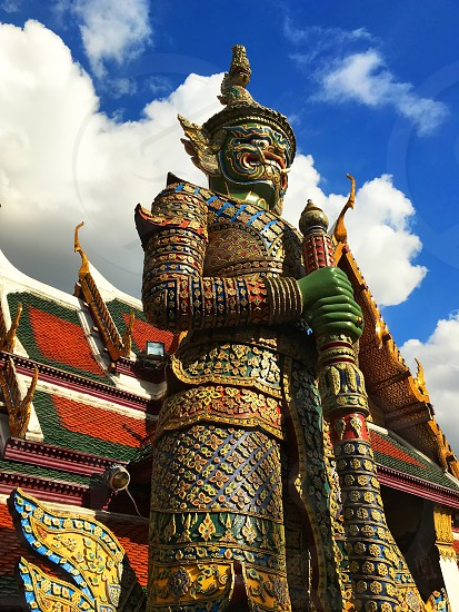 Demon Guardian in Wat Phra Kaew Grand Palace Bangkok photo