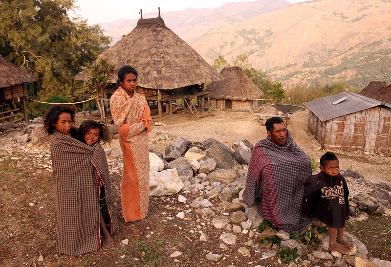 Farmers in the landscape near the Village Maubisse in the south of East Timor in southeastasia. photo