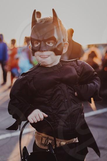 Halloween kids sunset Batman  photo