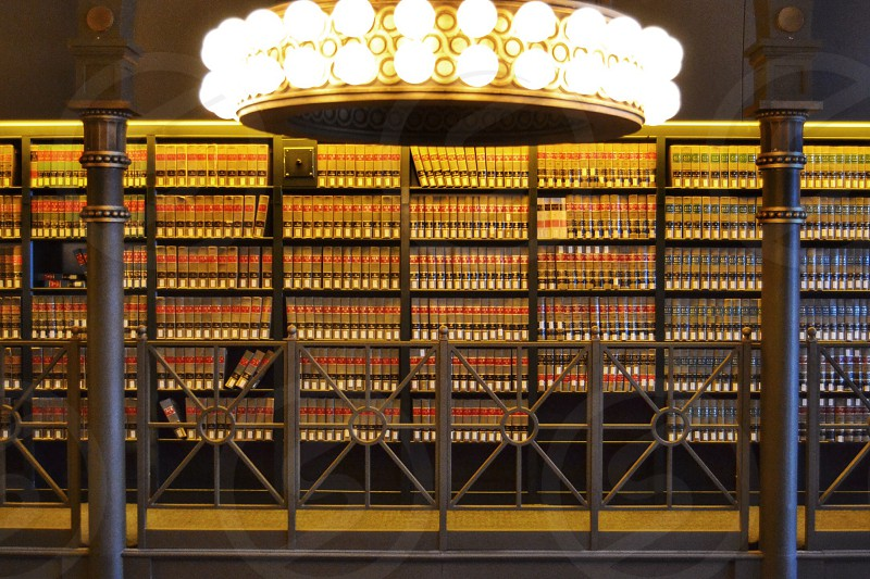 The stacks from The old Chicago Law Library located at 190 S Lasalle St  photo