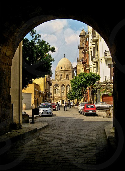 Entrance to AlMoezz street in Cairo Egypt photo