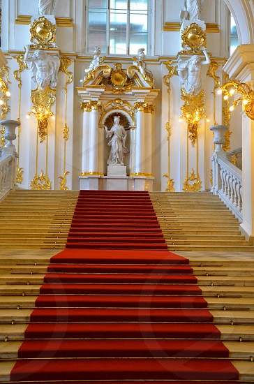 Stairs castle red carpet photo