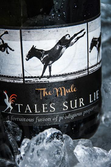 champagne cocktail sur lie ice bucket wine bottle champagne Tails Sur Lie Middle Ridge Winery photo