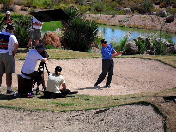 Golf Course Shoot in the Desert photo
