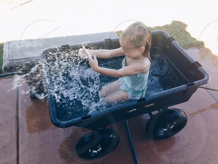 Little Girl Splashing photo