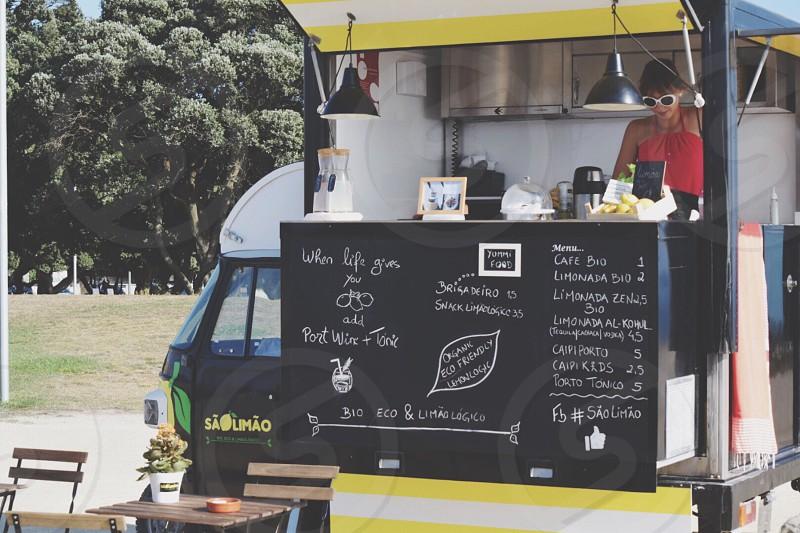 Lemonade stand in porto Portugal  photo