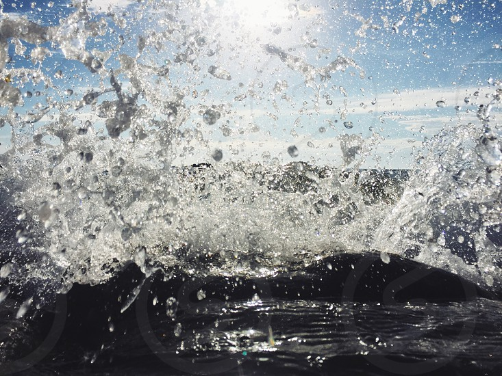 water droplets and waves photo