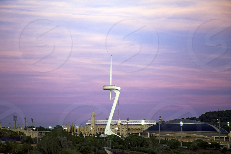Montjuic Communications Tower. Barcelona_ Spain. photo