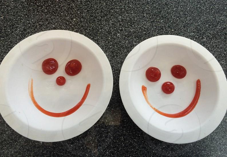 Johnny Rockets Rancho Cucamonga ketchup smile  photo
