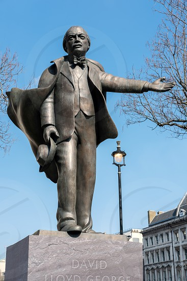 Statue of David Lloyd George in Parliament Square photo