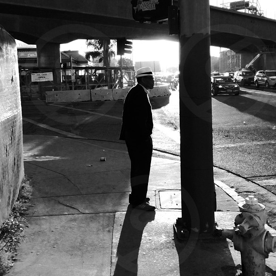 Street corner in Culver City at dusk. photo