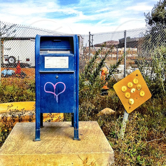 Mailbox with heart photo