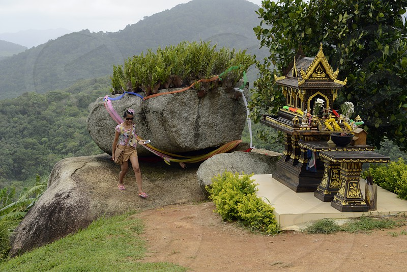 a mountain temple near the rawai beach in the south on the Phuket Island in the south of Thailand in Southeastasia. photo