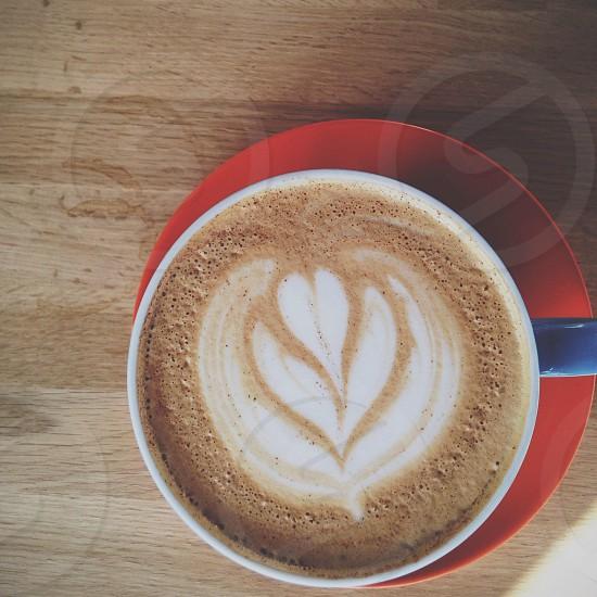 blue ceramic mug photo