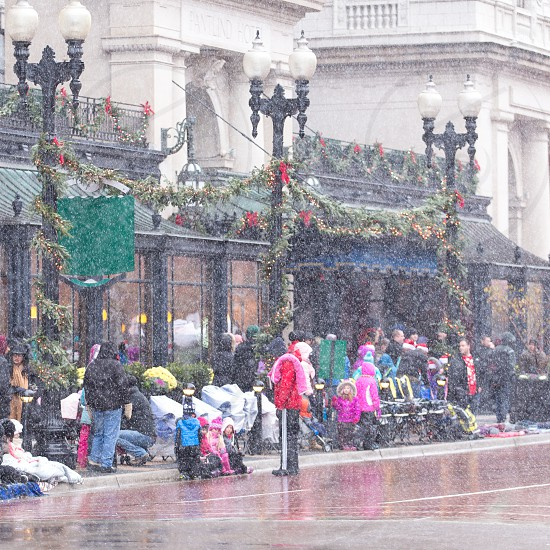 The Santa Parade in Grand Rapids Michigan. photo