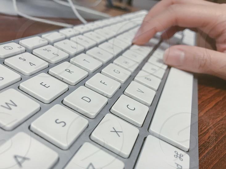 Type keyboard  press photo