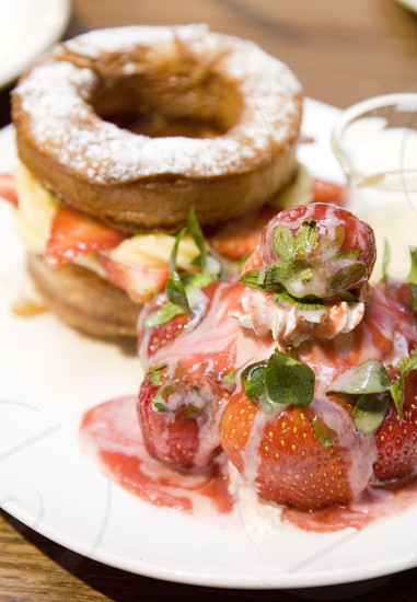 Strawberry cronut photo