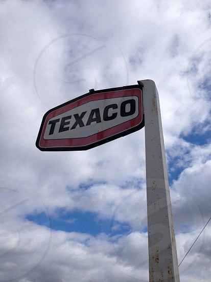 texaco sign board photo