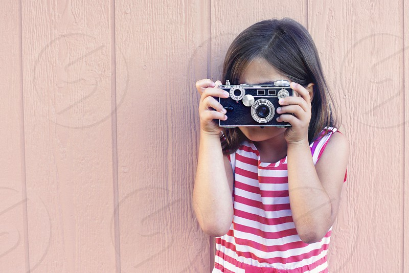 Camera Photo Vintage Girl Picture Brick Argus Range finder Toddler 5  photo