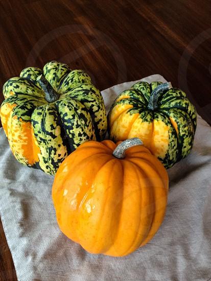 3 pumpkins photo
