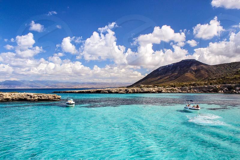 Sea lagoon boat landscape  photo