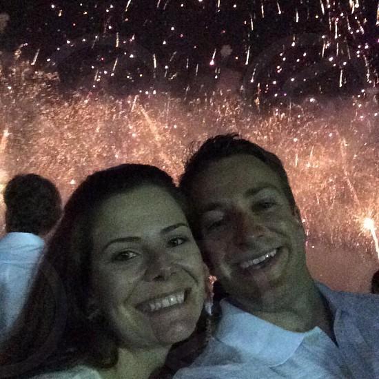 Fireworks at Copacabana beach  photo