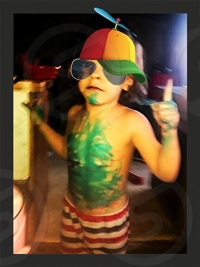 toddler messy body art photo