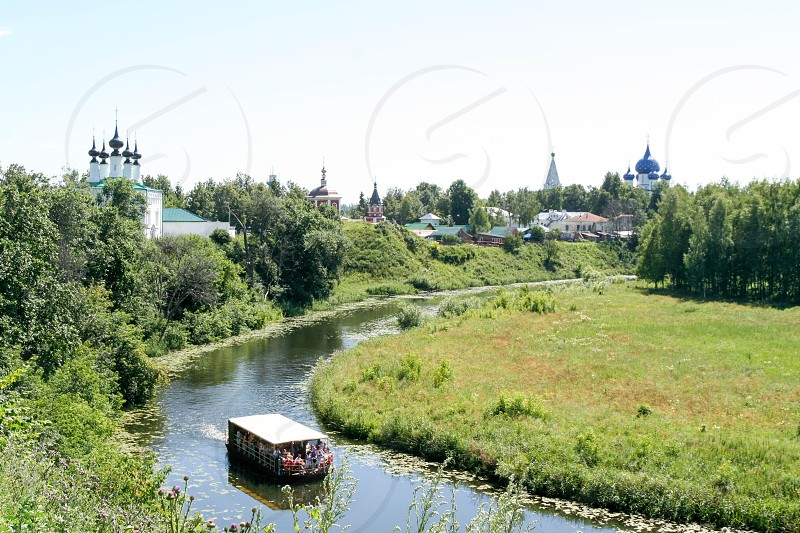 View of the Kamenka river Russia Suzdal photo
