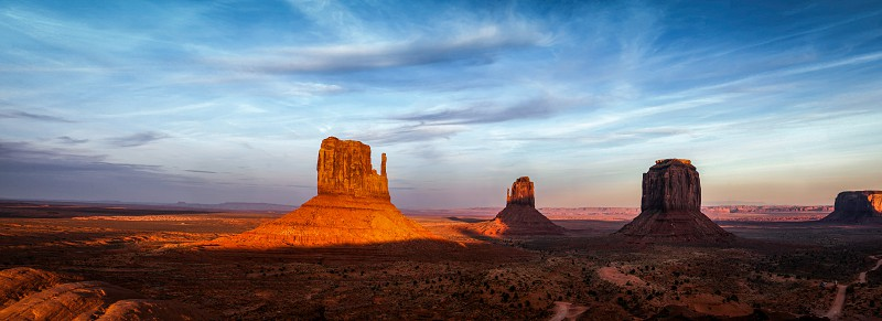 Sun Fading Over Monument Valley photo