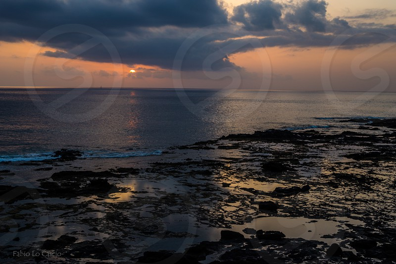 Sunset in Punta Jandia - Fuerteventura  photo