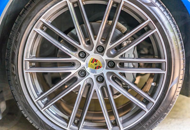 Porche wheel. photo