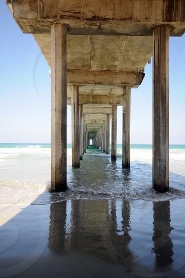 Scripps Pier and it's reflection in La Jolla California photo