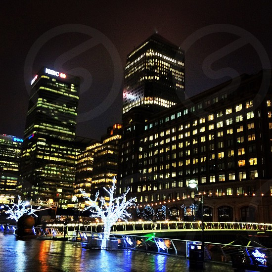 Christmas around Canary Wharf photo