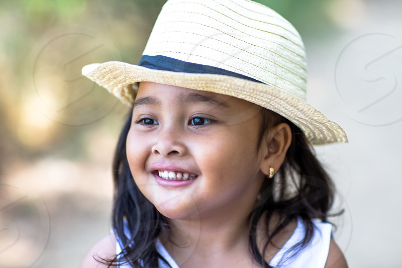 Cute Asian little girl 4 years old photo