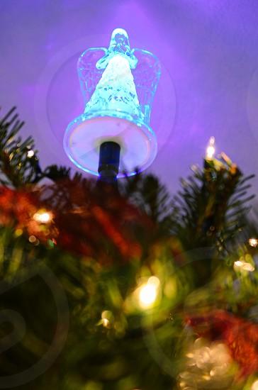 Christmas tree holiday Angel lights ornaments tradition magic photo