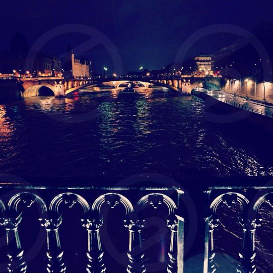 Paris Seine River photo